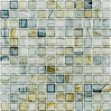 Thinset For Glass Mosaic Tile by Elida Ceramica Celestial Blue Uniform Squares Mosaic Glass Wall