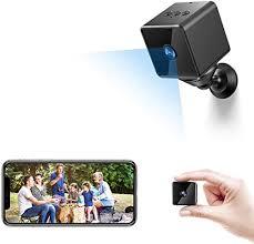 mini camara espia oculta bluetooth mhdyt wifi hd 1080p cámara vigilancia portátil con altavoz bluetooth sensor movimiento visión nocturna ip