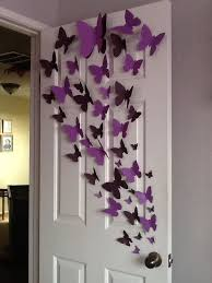 1000 Ideas About Butterfly Wall Decor On Pinterest Paper Throughout Decoration With
