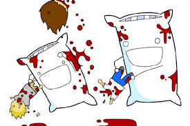 Pillow fight prank
