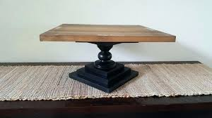 Wood Cake Stand Wedding Stands Rustic Square Wooden Pedestal Personalized