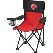 River Trail Kids Red/Black Canada Day Camp Chair | Home Hardware