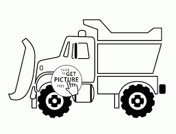 Snow Plow Truck Coloring Page For Kids Transportation Coloring ...