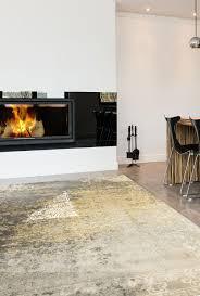 moderne teppiche für wohnzimmer zara kollektion gelb
