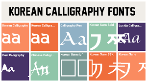 Korean Calligraphy Fonts