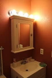 awesome bathroom medicine cabinet light fixtures with mirror doors