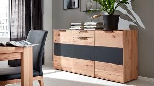 interliving wohnzimmer serie 2005 sideboard asteiche anthrazitfarbenes glas drei türen ein schublade