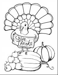Incredible Thanksgiving Turkey Coloring Page Printable With Pages