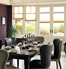 Dining Room Blinds With White Wood