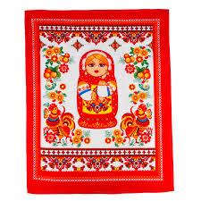 100 Matryoshka Kitchen 1 PC KITCHEN Towel W Nesting Doll 100 Cotton