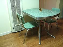 Formica Kitchen Table Retro Three Quarter And Chairs For Sale