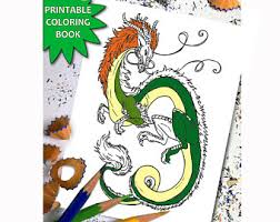 Amazing Dragons ADULT COLORING BOOK Adult Colouring Book Download Instant Printable Coloring