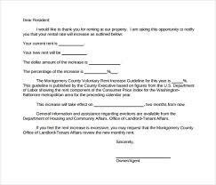 Tenant Rent Increase Letter Letters Font