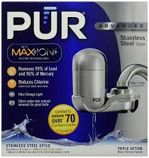 Pur Mineralclear Faucet Refill by Amazon Com Pur New Advanced Faucet Water Filter Stainless Steel