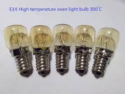 5pcs E14 high temperature bulb 300 degrees Bakery light bulbs E14