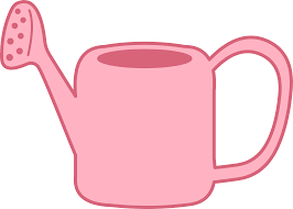 Pink Garden Watering Can Free Clip Art
