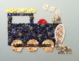 Custom Made Button Art Choo Train Matches Pottery Barn Kids Ryder Bedding