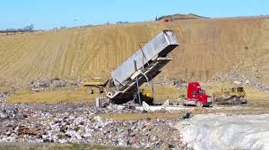 CKY Landfill Tipper Dumps MBI Truck - YouTube