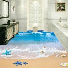 moderne strand meerwasser foto wandbild tapete 3d boden fliesen aufkleber bad pvc selbst klebstoff wasserdicht wear non slip tapete