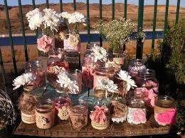 RUSTIC PINK WEDDING Decor 15 Bulk Burlap Lace Mason Jars Lanterns Vases Head