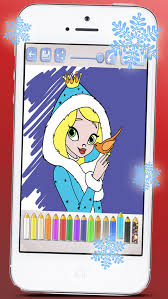 Drawings To Paint Princesses At Christmas Seasons