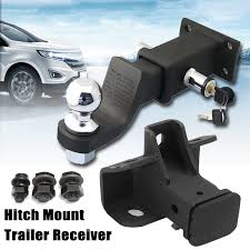 HITCH MOUNT TRAILER Receiver Tow Truck Ball + Hitch Lock For Land ...