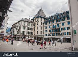 bureau stock plan de cagne chamonix june 26 2016 view stock photo 588351191