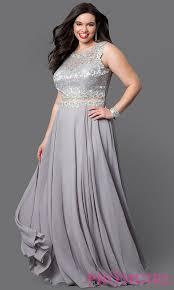 mock two piece long plus size prom dress promgirl
