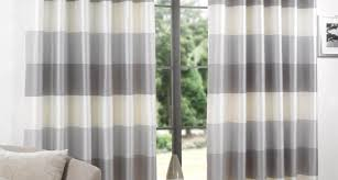Striped Sheer Curtain Panels by Curtains Grey Striped Curtains Amazing White With Grey Curtains