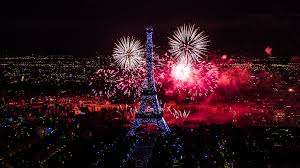 Awesome Fireworks On Paris City Eiffel Tower Download Best Desktop
