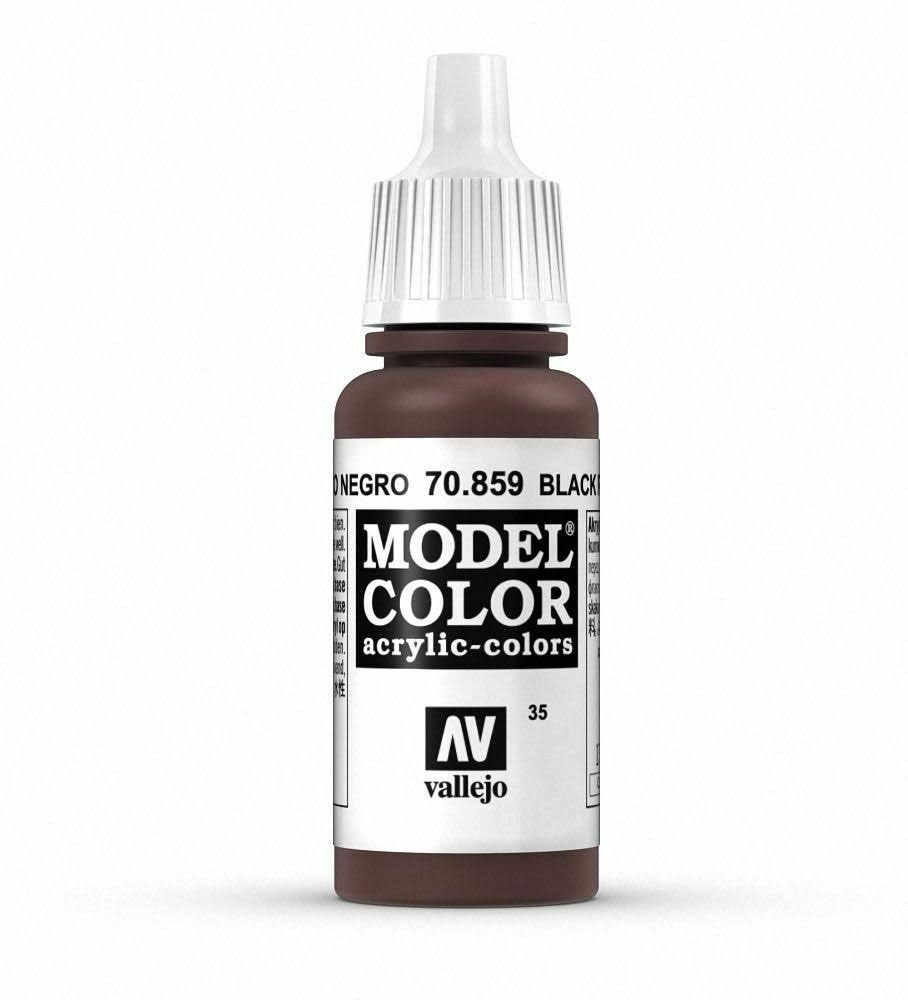 Vallejo Model Color Paint - 17ml, 70859 Black Red