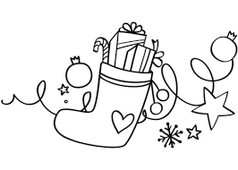Click To See Printable Version Of Xmas Stocking Coloring Page