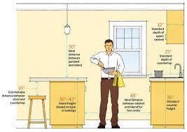 Standard Kitchen Overhead Cabinet Depth by Best 25 Kitchen Island Dimensions Ideas On Pinterest Kitchen