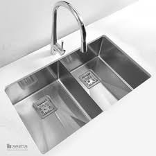 Overmount Double Kitchen Sink by Seima Tetra Pro Blade Double Inset Overmount Kitchen Sink Buy