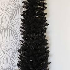 7ft Pencil Xmas Tree by Black Artificial Pine Pencil Christmas Tree