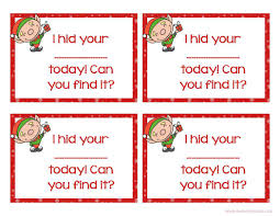 Printable Elf Ears Pattern Shelf Ideas With Cards Christmas Free On The Naughty Note Full