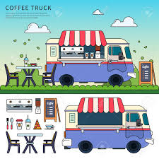 100 Coffee Truck On The Street Royalty Free Cliparts Vectors And Stock