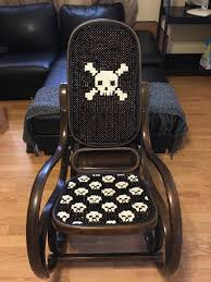 FO]A Skull Rocking Chair For My Husband As An Early Fathers ...