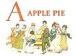 Free public domain vintage children s book illustration from Apple Pie by Kate Greenaway Letter A