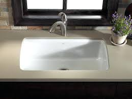 kohler white porcelain double kitchen sink cast iron weight top