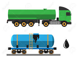 100 Truck Shipping Oil Extraction And Transportation Vector Illustration