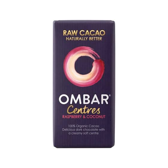 Ombar Centres Raspberry & Coconut Chocolate Bar - 35g
