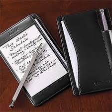 levenger mini nantucket desk shirt pocket briefcase leather notepad card holder writing pad
