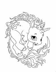 Draw Cute Unicorn Coloring Pages Fresh At Concept Animal