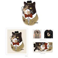 cat merchandise icon pudge the cat launches a line of t shirts catster
