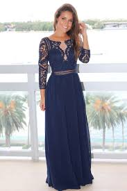 navy crochet maxi dress with 3 4 sleeves maxi dresses u2013 saved by