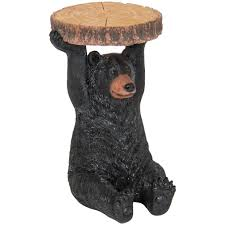 Best Choice Products Decorative Bear Pedestal Patio Side Table Outdoor Indoor