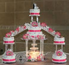Moses Wedding Cake traditional Wilton style tiers with water
