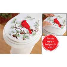 Christmas Red Bathroom Rugs by Winter Cardinals Christmas Bathroom Collection Shower Curtain Rug