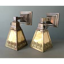 antique wall sconces lighting sold lights pair of arts crafts or